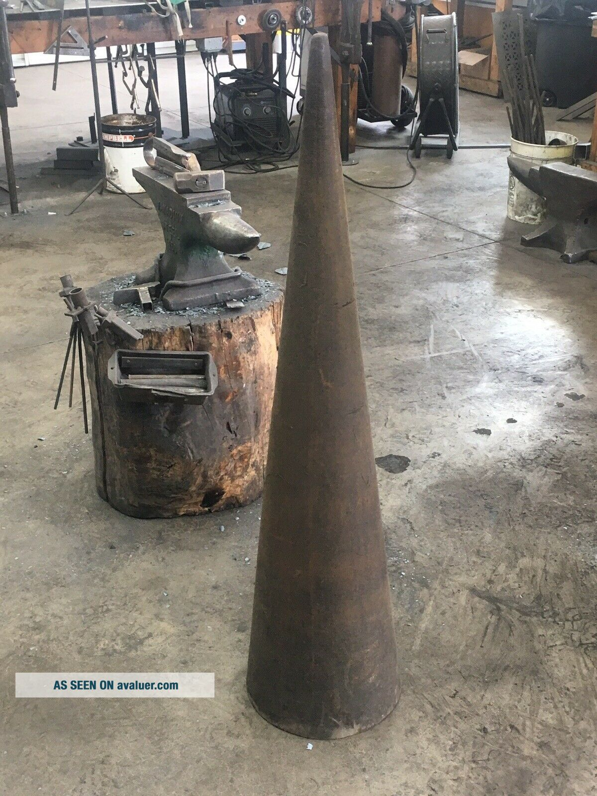 "Blacksmith Cone Mandrel,  48""H 12"" Diameter Base"