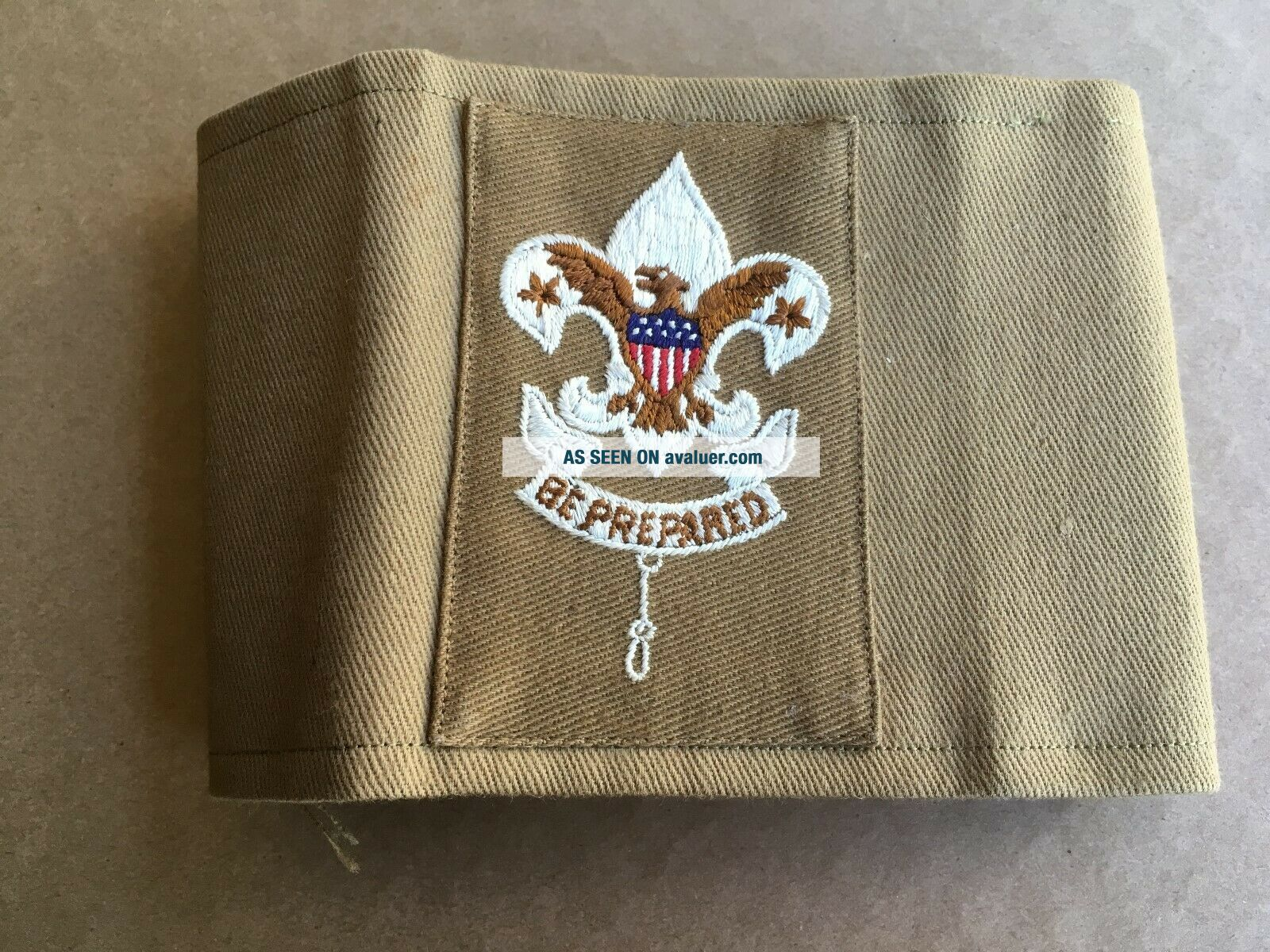 1st Issue 1910 ' s Tan Layman - Troop Commitee Armband Insignia Rank Patch