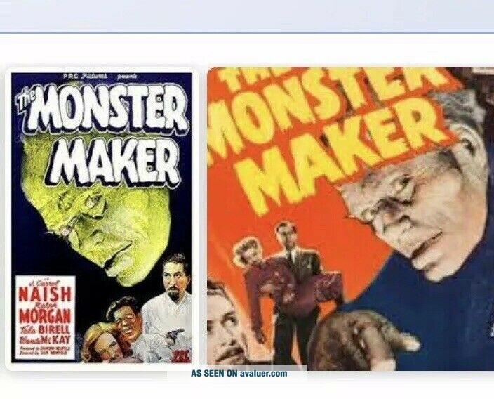 "Antique 16mm Movie ""The Monster Maker"" 1944 B/W ANFP Sound Release 2 - Heads - 2"